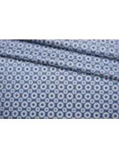 Атласный шелк голубой орнамент BRS-AA4 27022104