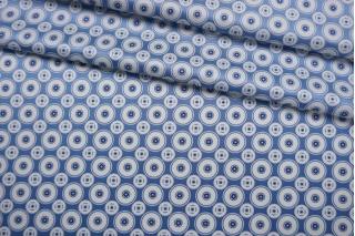 Атласный шелк голубой орнамент BRS-M30 27022104