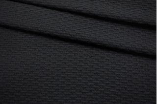 Пальтовая шерсть фактурная черная SR-DD60 11012111