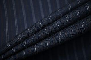 Тонкая костюмно-плательная шерсть с шелком в полоску SR-CC40 11012114