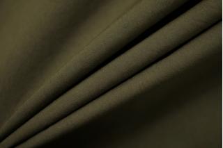 Поплин зеленый хаки стрейч SR 11012130