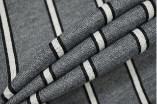 Трикотаж шерстяной серый в полоску TRC-M5 11012147