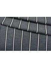 Трикотаж шерстяной серый в полоску TRC 11012147