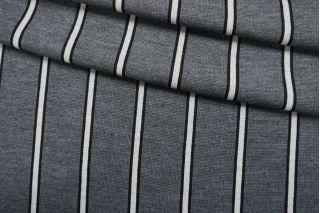 Трикотаж шерстяной серый в полоску TRC-Z26 11012147