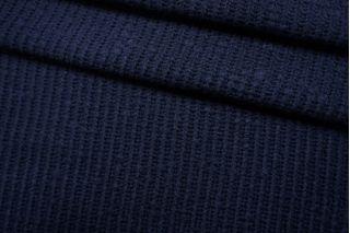 Трикотаж вязаный шерстяной темо-синий TRC-Z26 11012155