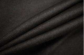 Костюмная шерсть черная с коричневым подтоном BRS-D6 11012165