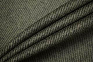 Пальтово-костюмная шерсть черно-зеленая BRS-DD2 11012166