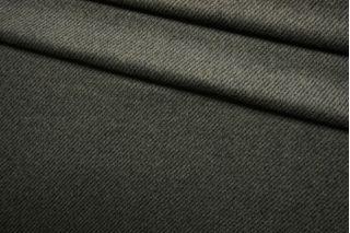 Пальтово-костюмная шерсть черно-зеленая BRS-DD40 11012166