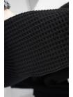 Пальтовая шерсть фактурная вафельная черная SR-DD5 11012171