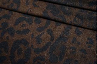 Велюр хлопковый темно-коричневый под леопарда TRC-Z3 23122066