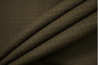 Тонкая костюмно-плательная шерсть болотная в клетку SR 23122068