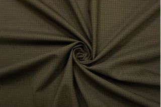 Тонкая костюмно-плательная шерсть болотная в клетку SR-C5 23122068