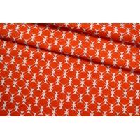 Сатин костюмно-плательный красно-белый FRM-G2 14022122
