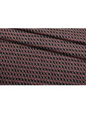 Сатин костюмно-плательный розово-черно-белый FRM-G2 14022123