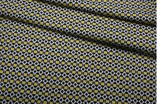 Сатин костюмно-плательный желто-черно-серо-белый FRM.H-C30 14022124