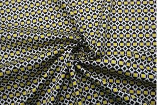 Сатин костюмно-плательный желто-черно-серо-белый FRM-G2 14022124