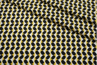 Сатин костюмно-плательный желто-черно-белый FRM-C40 14022126