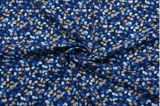 Креповая вискоза синие цветы TXT-H5 14022144