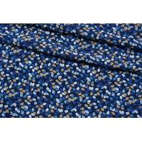 Креповая вискоза синие цветы TXT-H3 14022144