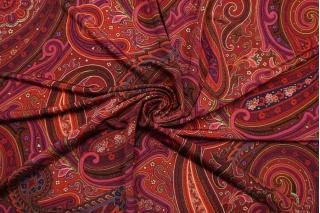 Трикотаж вискозный холодный огурцы красный NST-Х4 14022147