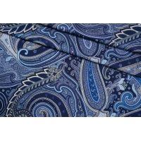 Трикотаж вискозный холодный огурцы синий NST 14022148