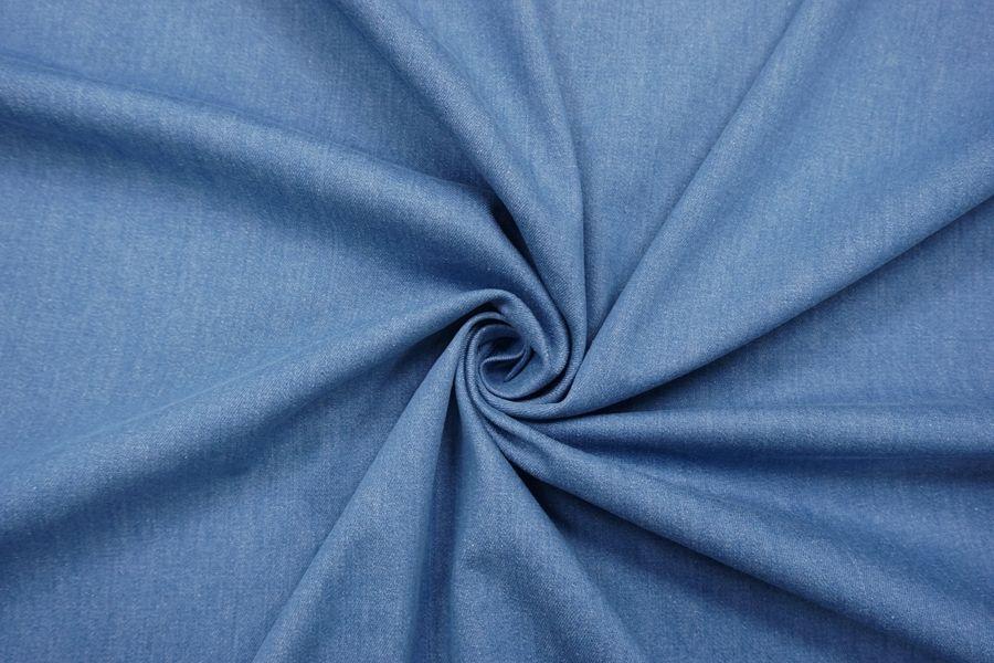 ОТРЕЗ 2,05 М Джинса-стрейч сине-голубая FRM-(21)- 14022173-1