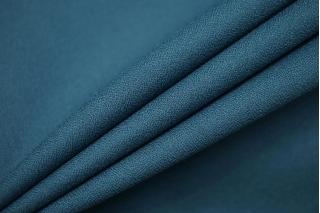 Креп костюмно-плательный поливискозный приглушенный сине-бирюзовый Hugo Boss NST 16022102