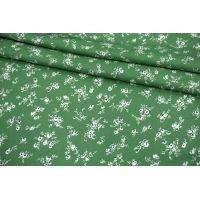 Твил плательный цветы на зеленом фоне MII-I40 04082106