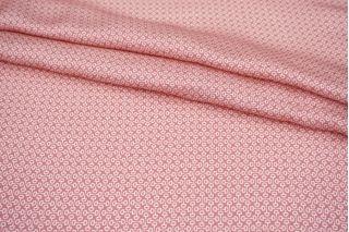 Атлас плательно-блузочный розовый орнамент MII-j30 04082124