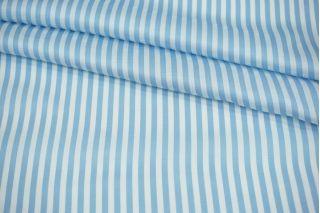 Атлас плательно-блузочный голубая полоска MII-j30 04082129