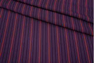 Креповая вискоза фиолетовая в полоску MII-H60 04082138