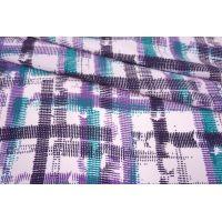 Креповая вискоза штрихи фиолетовые MII-H30 04082139
