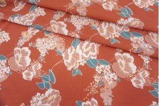 Креповая вискоза розовые цветы MII-H60 05082134