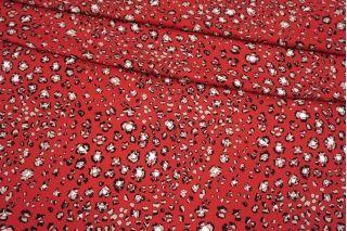 Твил плательный красный пятнышки MII-I40 05082142