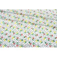 Поплин мерсеризованный мелкие цветы на белом фоне MII-A40 05082147