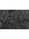 Поплин рубашечный белый горошек на черном фоне MII-A40 06082104