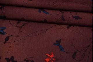 Креп-шифон цветочный винно-ягодный MII-H30 06082108