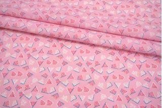 Поплин мерсеризованный розовая абстракция MII-A30 06082119