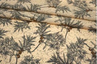 Поплин мерсеризованный цветы на бежево-персиковом фоне MII-A30 06082124
