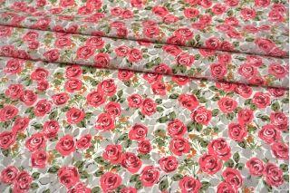 Поплин мерсеризованный розовые розы MII-A30 06082125