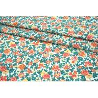 Поплин мерсеризованный яркие цветы MII-A30 06082129
