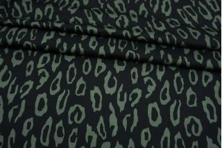 Сатин плательно-блузочный леопард зеленый MII-H40 06082131