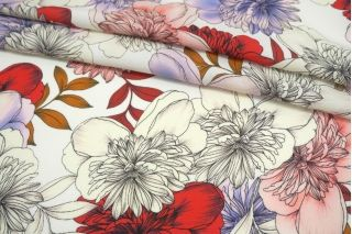 Фактурная креповая вискоза крупные цветы MII-H60 06082141