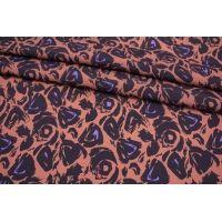 Креповая вискоза фиолетовые пятна MII-H20 06082142