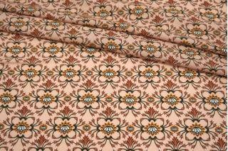 Штапель растительный орнамент на светло-персиковом фоне MII-I60 06082144