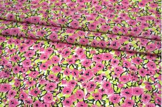 Поплин мерсеризованный яркие розовые цветы MII-A30 06082147