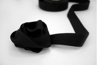 Лента репсовая черная 3 см SH-B50 14092117