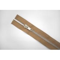 Молния металлическая разъёмная двухзамковая выбеленно-коричневая 75 см E13 15092108