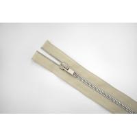 Молния металлическая разъёмная двухзамковая светлая серо-бежевая 50,5 см E13 15092110