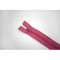 """Молния пластиковая спиральная неразъёмная однозамковая """"BLITZ"""" розовая малина 18 см E13 15092116"""